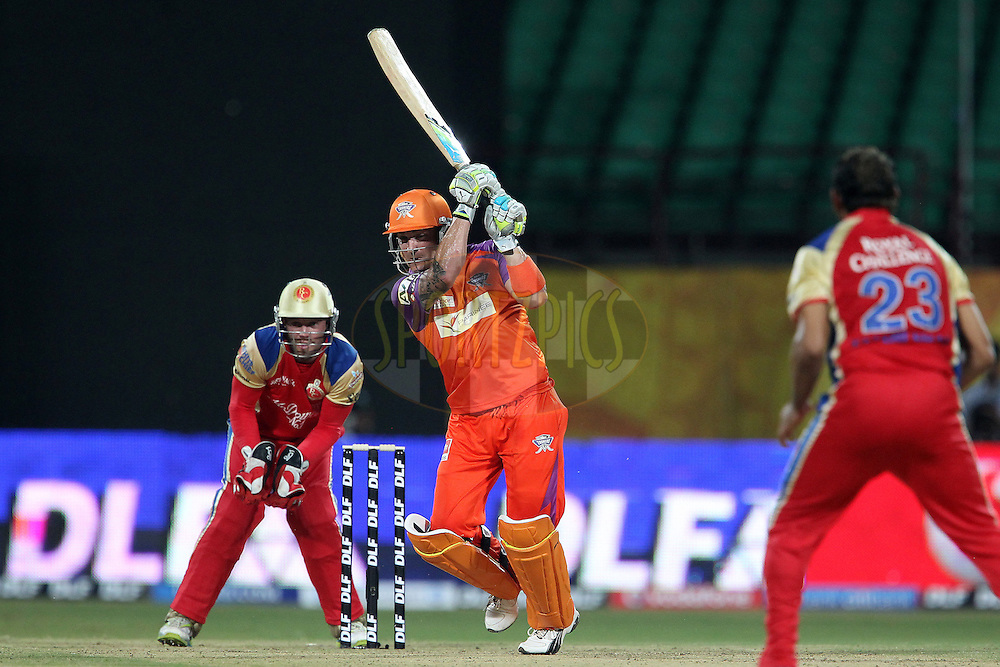 Brendan McCullum during the  match 3 of the Indian Premier League ( IPL ) Season 4 between the Kochi Tuskers Kerala and the Royal Challengers Bangalore held at the Jawaharlal International Stadium in Kochi, Kerala, India on the 9th April 2011..Photo by Ron Gaunt/BCCI/SPORTZPICS