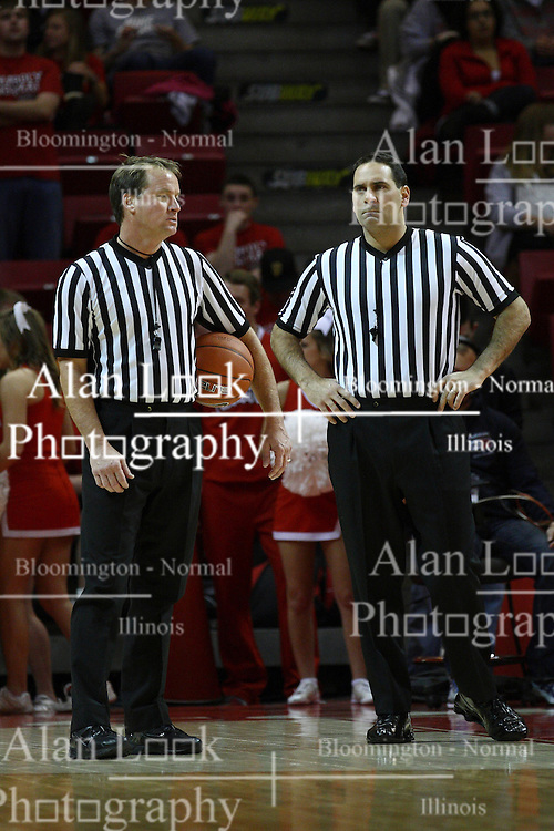 05 January 2013:  John Higgins and Bo Boroski during an NCAA Missouri Valley Conference (MVC) mens basketball game between the Northern Iowa Panthers and the Illinois State Redbirds in Redbird Arena, Normal IL