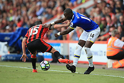 Yannick Bolasie of Everton is tackled by Adam Smith of Bournemouth - Mandatory by-line: Jason Brown/JMP - 24/09/2016 - FOOTBALL - Vitality Stadium - Bournemouth, England - AFC Bournemouth v Everton - Premier League