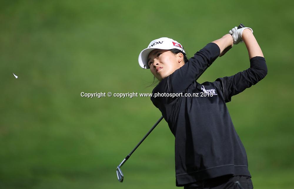 Mun Chin Keh on the first day of the 2013 New Zealand Amateur Championship, Manawatu Golf Club, Palmerston North, New Zealand. Wednesday 24 April 2013. Photo: John Cowpland / photosport.co.nz