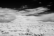 Infrared photograph of Badger Mountain in Richland, WA as seen from West Richland, WA.  Fine art photography by Michael Kloth. Black and white infrared photographs