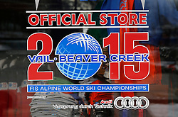 02.02.2015, Vail, USA, FIS Weltmeisterschaften Ski Alpin, USA, FIS Weltmeisterschaften Ski Alpin, Vail Beaver Creek 2015, im Bild Logo der WM // before the FIS Ski World Championships 2015 at Vail, United States on 2015/02/02. EXPA Pictures © 2015, PhotoCredit: EXPA/ SM<br /> <br /> *****ATTENTION - OUT of GER*****