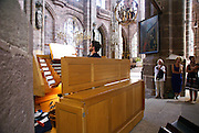 organ concert at the St. Lorenz church, Nuremberg, Bavaria, Germany