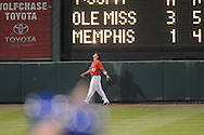 Mississippi's Taylor Hashman watches a Memphis home run clear the fence  at Autozone Park in Memphis, Tenn. on Tuesday, April 13, 2010. Memphis won 6-5.