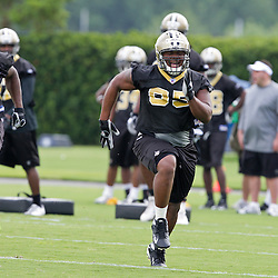 08 May 2009: Vaalyn Jackson (65) a rookie tryout defensive tackle from McNeese State participates in drills during the New Orleans Saints  rookie minicamp held at the team's practice facility in Metairie, Louisiana.