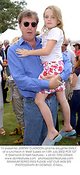 TV presenter JEREMY CLARKSON and his daughter EMILY, at a luncheon in West Sussex on 14th July 2002.	PCB 127