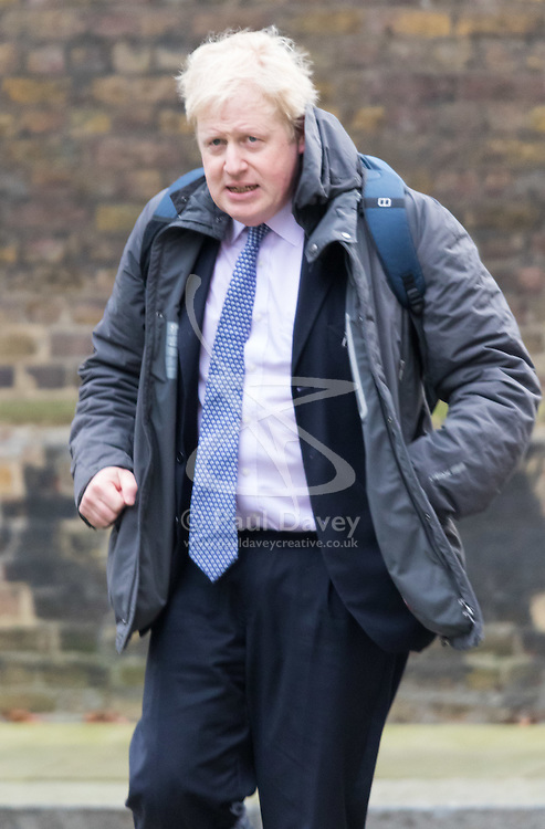 Downing Street, London, March 8th 2016. Mayor of London and Cabinet member Boris Johnson arrives for the weekly UK cabinet meeting at Downing Street. ©Paul Davey<br /> FOR LICENCING CONTACT: Paul Davey +44 (0) 7966 016 296 paul@pauldaveycreative.co.uk