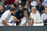 Real Madrid Anthony Randolph injured during Turkish Airlines Euroleague match between Real Madrid and CSKA Moscu at Wizink Center in Madrid, Spain. October 19, 2017. (ALTERPHOTOS/Borja B.Hojas)