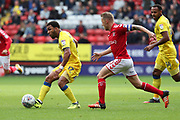 AFC Wimbledon striker Andy Barcham (17) passing the ball during the EFL Sky Bet League 1 match between Charlton Athletic and AFC Wimbledon at The Valley, London, England on 28 October 2017. Photo by Matthew Redman.