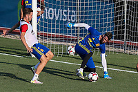 Spanish Saul Iniguez and David De Gea during the first training of the concentration of Spanish football team at Ciudad del Futbol de Las Rozas before the qualifying for the Russia world cup in 2017 August 29, 2016. (ALTERPHOTOS/Rodrigo Jimenez)