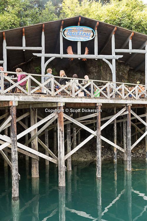 The Saltry Restaurant in Halibut Cove, Kachemak Bay, Kenai Peninsula, Southcentral Alaska.