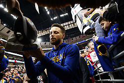 January 17, 2018 - Chicago, IL, USA - Golden State Warriors guard Stephen Curry signs autographs before the first half against the Chicago Bulls at the United Center in Chicago on Wednesday, Jan. 17, 2018. The Warriors won, 119-112. (Credit Image: © Armando L. Sanchez/TNS via ZUMA Wire)