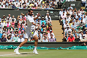 WIMBLEDON - GB -  6th July 2016: The Wimbledon Tennis Championship at the All England Lawn Tennis Club in S.E. London.<br /> <br /> Roger Federer vs Marin Cilic Quarter final match.<br /> ©Ian Jones/Exclusivepix Media