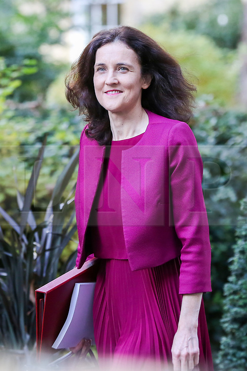 © Licensed to London News Pictures. 16/10/2019. London, UK. Secretary of State for Environment, Food & Rural Affairs THERESA VILLIERS arrives in Downing Street to attend the weekly cabinet meeting. This week's cabinet meeting was postponed by one day on Tuesday 15 October amid a final push for a Brexit agreement that can be sealed in time for the European Council summit in Brussels on Thursday and Friday. Photo credit: Dinendra Haria/LNP