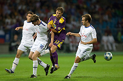Hannu Tihinen vs Dragan Jelic of Maribor at Third Round of Champions League qualifications football match between NK Maribor and FC Zurich,  on August 05, 2009, in Ljudski vrt , Maribor, Slovenia. Zurich won 3:0 and qualified to next Round. (Photo by Vid Ponikvar / Sportida)