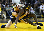 January 29, 2010: Penn State's Adam Lynch controls Iowa's Montell Marion in the 141-pound bout at Carver-Hawkeye Arena in Iowa City, Iowa on January 29, 2010. Lynch won the match 8-6 and Iowa defeated Penn State 29-6.