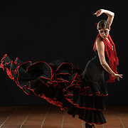 A flamenco dancer is photographed for Danz Arts advertising by Dallas commercial photographer William Morton of Morton Visuals.