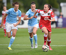 Bristol Academy's new signing Caroline Weir in action during the FA Women's Super League match between Bristol Academy Women and Manchester City Women at Stoke Gifford Stadium on 18 July 2015 in Bristol, England - Photo mandatory by-line: Paul Knight/JMP - Mobile: 07966 386802 - 18/07/2015 - SPORT - Football - Bristol - Stoke Gifford Stadium - Bristol Academy Women v Manchester City Women - FA Women's Super League