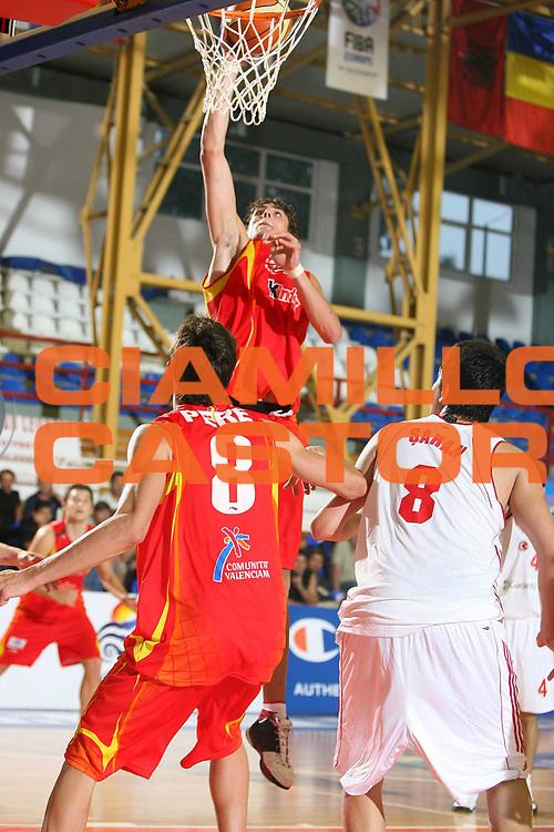 DESCRIZIONE : Amaliada Grecia Greece Campionati Europei Under 18 European Championship Under 18 UMCOR  Final 3-4 place Spain-Turkey<br /> GIOCATORE : Aguilar<br /> SQUADRA : Spagna Spain Turchia Turkey<br /> EVENTO : Amaliada Grecia Campionati Europei Under 18 European Championship Under 18 UMCOR  Final 3-4 place Spain-Turkey<br /> GARA : Spagna Turchia Spain Turkey<br /> DATA : 27/07/2006 <br /> CATEGORIA :<br /> SPORT : Pallacanestro <br /> AUTORE : Agenzia Ciamillo-Castoria/E.Castoria<br /> Galleria : Fiba Europe 2006<br /> Fotonotizia : Amaliada Grecia Greece Campionati Europei Under 18 European Championship Under 18 UMCOR Final 3-4 place Spain-Turkey<br /> Predefinita :
