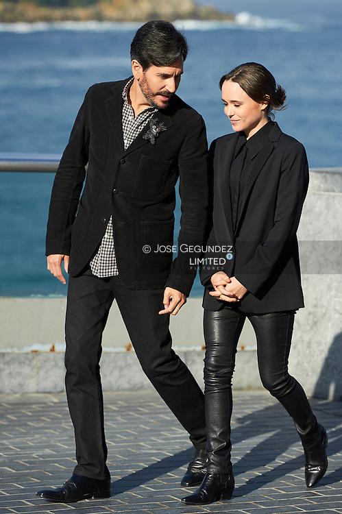 Peter Sollet, Ellen Page pose for 'Freeheld' photocall during 63rd San Sebastian International Film Festival at the Aquarium on September 24 in San Sebastian