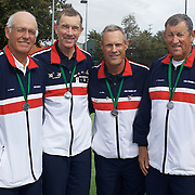 Von Cramm Cup Silver medalist, USA, from left, Armistead Neely, Brian Cheney, Brent Abel and Hugh Thomson during the 2009 ITF Super-Seniors World Team and Individual Championships at Perth, Western Australia, between 2-15th November, 2009.