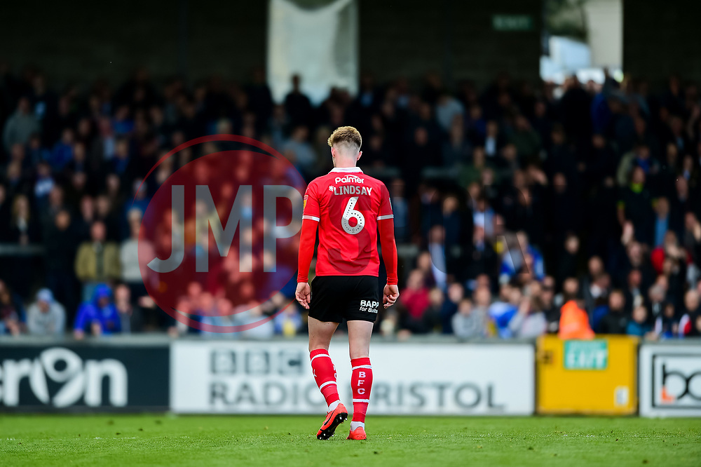 Liam Lindsay of Barnsley looks dejected after receiving a red card - Mandatory by-line: Ryan Hiscott/JMP - 04/05/2019 - FOOTBALL - Memorial Stadium - Bristol, England - Bristol Rovers v Barnsley - Sky Bet League One