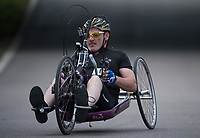 Steve Jobbins in action during the Prudential RideLondon Handcycle Grand Prix. <br /> <br /> Prudential RideLondon 28/07/2017<br /> <br /> Photo: Tom Lovelock/Silverhub for Prudential RideLondon<br /> <br /> Prudential RideLondon is the world&rsquo;s greatest festival of cycling, involving 100,000+ cyclists &ndash; from Olympic champions to a free family fun ride - riding in events over closed roads in London and Surrey over the weekend of 28th to 30th July 2017. <br /> <br /> See www.PrudentialRideLondon.co.uk for more.<br /> <br /> For further information: media@londonmarathonevents.co.uk