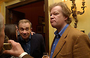 Harry Enfield and Christopher Sylvester, .  The Oldie of the Year Awards lunch, Simpson's -in-the-Strand, London. 18 March 2003. © Copyright Photograph by Dafydd Jones 66 Stockwell Park Rd. London SW9 0DA Tel 020 7733 0108 www.dafjones.com