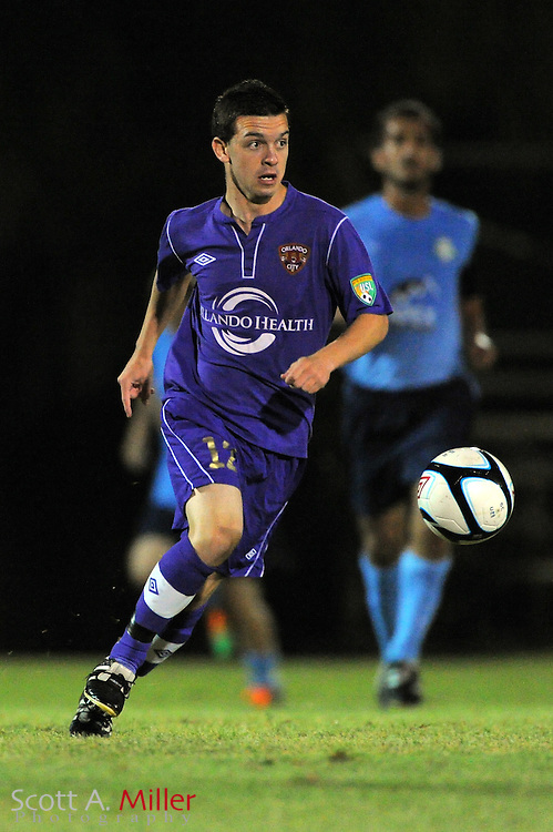Orlando City U23 player David Graydon (12) in action during the Lions US Open Cup game against Jacksonville United on May 15, 2012 in Sanford, Fla. ..©2012 Scott A. Miller..