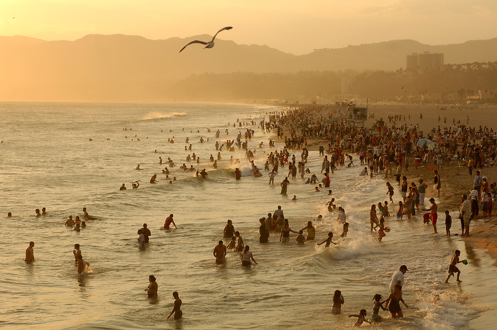 Santa Monica Beach, Santa Monica, Los Angeles, California, United States of America