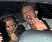 09.MAY.2012. LONDON<br /> <br /> KATIE PRICE AND LEANDRO PENNA ALONG WITH THEIR ENTOURAGE LEAVE AURA NIGHT CLUB IN MAYFAIR AT 2:50AM. KATIE WAS SHOWING OFF HER NEW ENGAGEMENT RING.<br /> <br /> BYLINE: EDBIMAGEARCHIVE.COM<br /> <br /> *THIS IMAGE IS STRICTLY FOR UK NEWSPAPERS AND MAGAZINES ONLY*<br /> *FOR WORLD WIDE SALES AND WEB USE PLEASE CONTACT EDBIMAGEARCHIVE - 0208 954 5968*