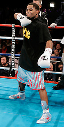 Undefeated prospect Curtis Stevens before his win over Kia Daniels after just :44 seconds of the first round at the Manhattan Center in NYC.  Stevens knocked out Daniels cold with a single left hook to move his record to 10-0, 9KO's.