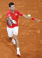 Novak Djokovic during the Madrid Open at Manzanares Park Tennis Centre, Madrid<br /> Picture by EXPA Pictures/Focus Images Ltd 07814482222<br /> 07/05/2016<br /> ***UK & IRELAND ONLY***<br /> EXPA-ESP-160507-0004.jpg
