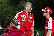 September 3-5, 2015 - Italian Grand Prix at Monza: Sebastian Vettel (GER), Ferrari, Ferrari, Maurizio Arrivabene, team principal of Scuderia Ferrari