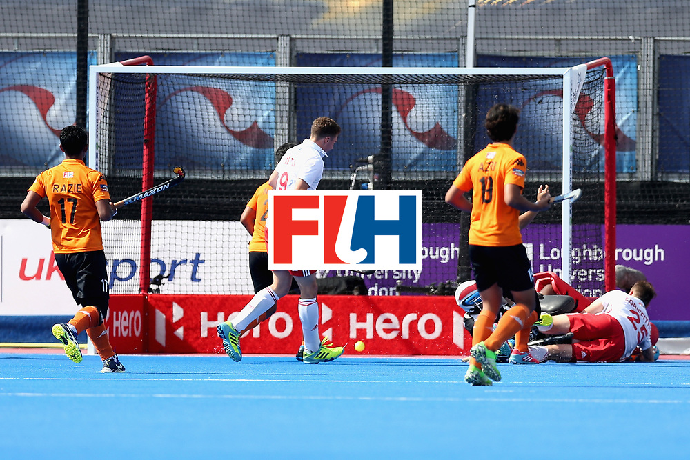 LONDON, ENGLAND - JUNE 17: Christopher Griffiths of England scores the second goal for England during the Hero Hockey World League Semi Final match between England and Malaysia at Lee Valley Hockey and Tennis Centre on June 17, 2017 in London, England.  (Photo by Alex Morton/Getty Images)