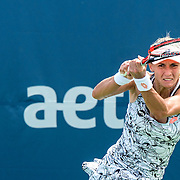August 21, 2016, New Haven, Connecticut: <br /> Lesia Tusrenko of Ukraine in action during Day 3 of the 2016 Connecticut Open at the Yale University Tennis Center on Sunday, August  21, 2016 in New Haven, Connecticut. <br /> (Photo by Billie Weiss/Connecticut Open)