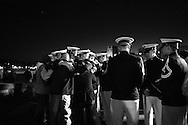 VA Tech cadets gather to mourn near the university's Chapel the night of the shooting...photo: Hector Emanuel
