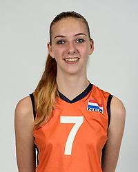 13-05-2014 NED: Selectie Nederlands volleybal team mannen, Arnhem<br /> Op Papendal werd het Nederlands team volleybal seizoen 2014-2015 gepresenteerd / Emma Bredewoud