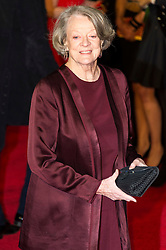© Licensed to London News Pictures. 14/02/2016. London, UK. DAME MAGGIE SMITH arrives on the red carpet at the EE British Academy Film Awards 2016 Photo credit: Ray Tang/LNP