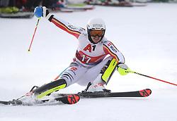 26.01.2020, Streif, Kitzbühel, AUT, FIS Weltcup Ski Alpin, Slalom, Herren, 1. Lauf, im Bild Akrobatische Einlage vom besten deutschen Slalom Fahrer Linus Strasser // Akrobatische Einlage vom besten deutschen Slalom Fahrer Linus Strasser in action during his 1st run in the men's Slalom of FIS Ski Alpine World Cup at the Streif in Kitzbühel, Austria on 2020/01/26. EXPA Pictures © 2020, PhotoCredit: EXPA/ SM<br /> <br /> *****ATTENTION - OUT of GER*****