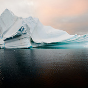 An iceberg floaats in Hughes Bay on the western coast of the Antarctic Peninsula.