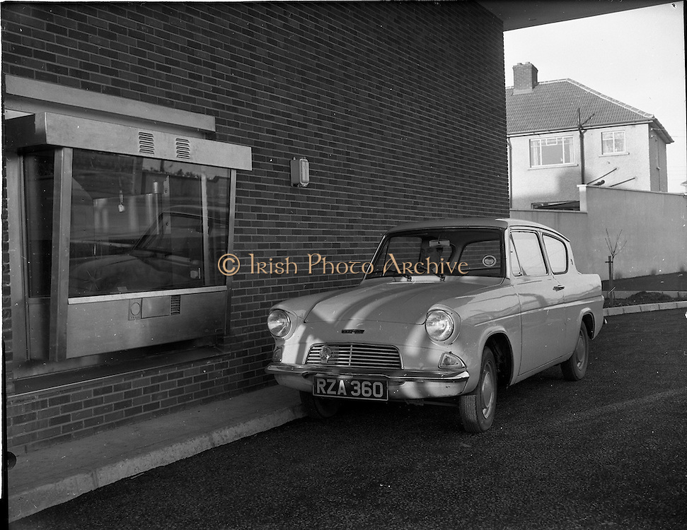 05/12/1961<br /> 12/05/1961<br /> 05 December 1961<br /> Chubbs and Sons safes at the Bank of Ireland, Raheny, Dublin.