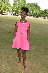 BARONESS BENJAMIN at the Flannels For Heroes cricket competition in association with Dockers held at Burton Court, Chelsea, London on 19th June 2015