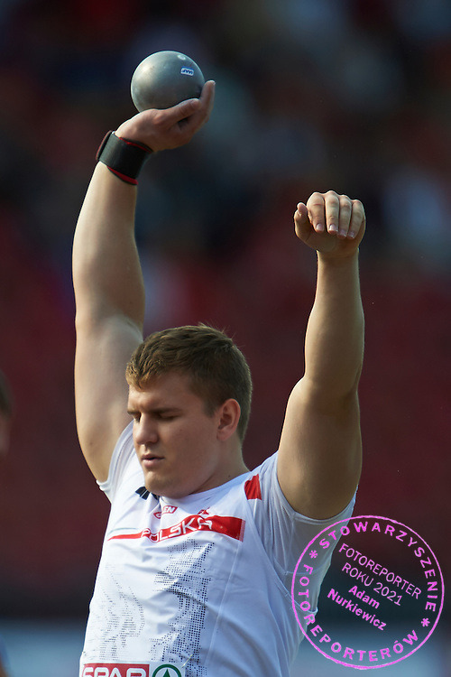 Jakub Szyszkowski of Poland competes in men's shot put qualification during the First Day of the European Athletics Championships Zurich 2014 at Letzigrund Stadium in Zurich, Switzerland.<br /> <br /> Switzerland, Zurich, August 12, 2014<br /> <br /> Picture also available in RAW (NEF) or TIFF format on special request.<br /> <br /> For editorial use only. Any commercial or promotional use requires permission.<br /> <br /> Photo by &copy; Adam Nurkiewicz / Mediasport