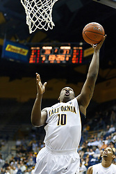 November 16, 2010; Berkeley, CA, USA;  California Golden Bears center Markhuri Sanders-Frison (10) shoots against the Cal State Northridge Matadors during the second half at Haas Pavilion.  California defeated Cal State Northridge 80-63.