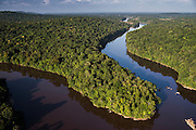 Potaro River<br /> GUYANA<br /> South America<br /> Kaieteur Falls is the world's widest single drop waterfall, located on the Potaro River in the Kaieteur National Park, in Essequibo, province
