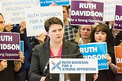 Pictured: Ruth Davidson<br /> <br /> Ruth Davidson began her final push to lead the Conservative Party to opposition in the Scottish Parliamentary Election with an eve of poll rally at the Royal Botanic Garden, Edinburgh<br /> <br /> <br /> (c) Richard Dyson| Edinburgh Elite media