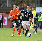 Dundee's Greg Stewart and Dundee United's Chris Erskine  - Dundee United v Dundee at Tannadice Park in the SPFL Premiership<br /> <br />  - © David Young - www.davidyoungphoto.co.uk - email: davidyoungphoto@gmail.com