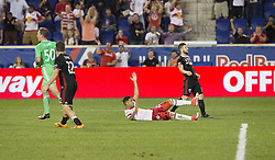 September 27, 2017 - Harrison, New Jersey, United States - Gonzalo Veron (30) of Red Bulls fauled inside box during regular MLS game against DC United at Red Bull Arena Game ended in draw 3 - 3 (Credit Image: © Lev Radin/Pacific Press via ZUMA Wire)