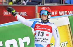 26.10.2019, Hannes Trinkl Weltcupstrecke, Hinterstoder, AUT, FIS Weltcup Ski Alpin, Riesenslalom, Herren, 2. Lauf, im Bild Loic Meillard (SUI) // Loic Meillard of Switzerland reacts after his 2nd run of men's Giant Slalom of FIS ski alpine world cup at the Hannes Trinkl Weltcupstrecke in Hinterstoder, Austria on 2019/10/26. EXPA Pictures © 2020, PhotoCredit: EXPA/ Erich Spiess